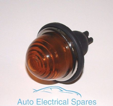 Lucas type L594 indicator lamp / light amber glass COMPLETE